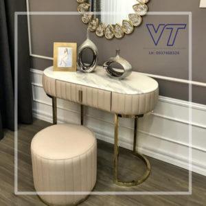 Chân bàn trang điểm inox mạ vàng ánh kim VinhThanhsteel